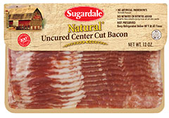 Sugardale Natural Uncrued Center Cut Bacon