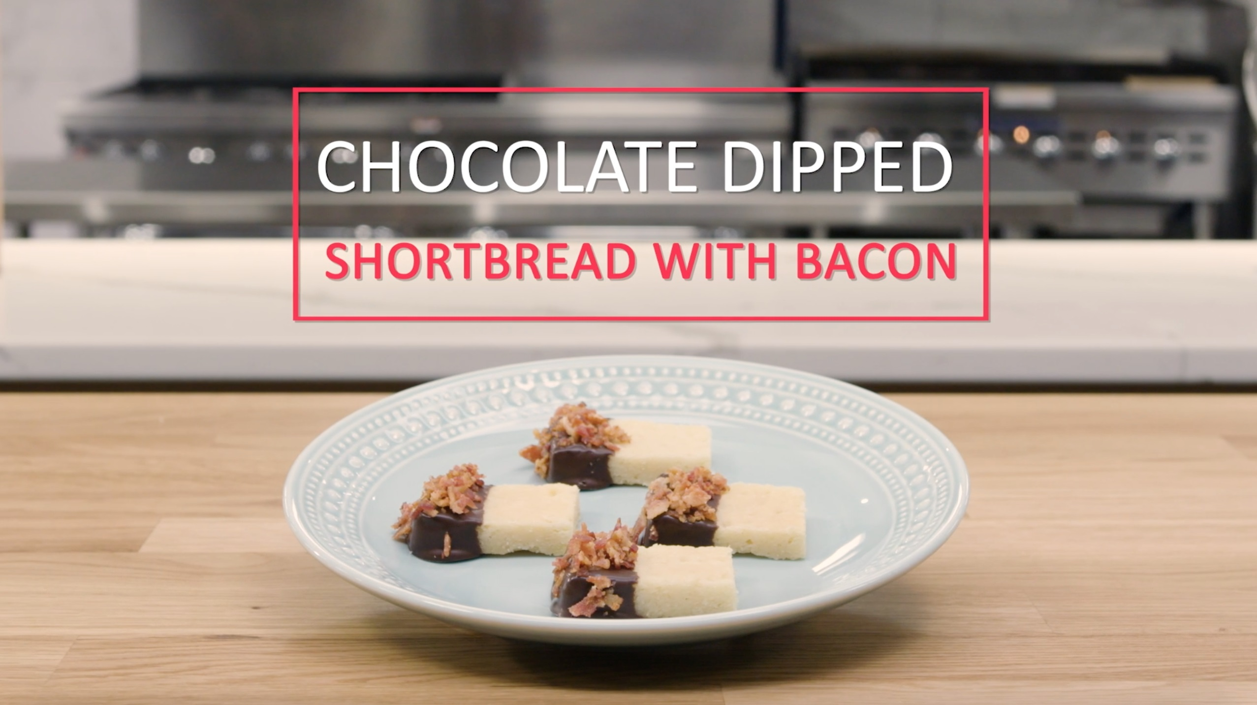 Chocolate Dipped Shortbread with Bacon