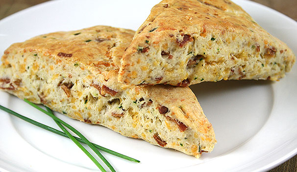 Savory Bacon Cheddar Scones