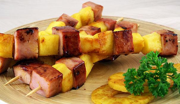Ham and Pineapple Kebab