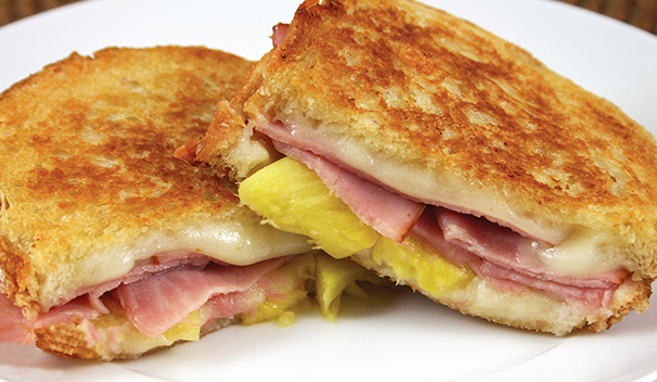Ham and Pineapple Grilled Panini
