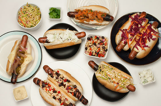Hot Dog Topping Bar