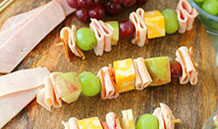 Lunchbox Turkey and Ham Skewers