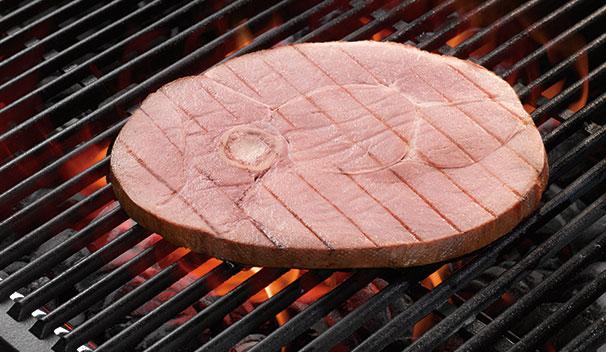 Maple Teriyaki Glazed Ham Steaks