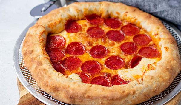 Pepperoni Stuffed Crust Pizza