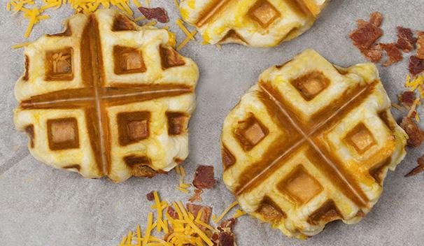 Breakfast Ham Wafflewiches