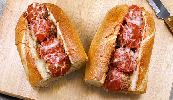 Pepperoni Meatball Subs